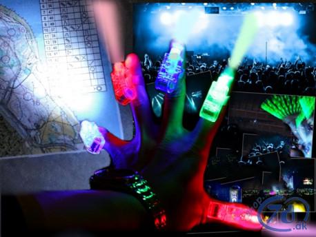 Fingerlygter - Lys på fingrene - Til hverdag og fest - Klar til brug