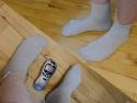 AntiStatiske TerapiStrømper med stik til TENS - EMS - Earthing