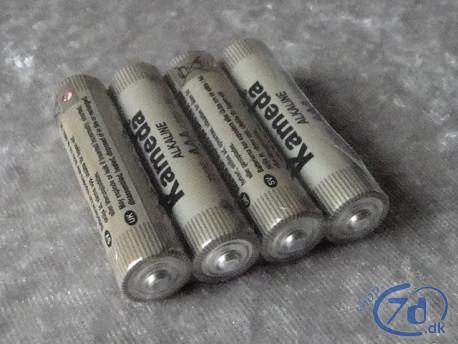 4 AAA batterier - Alkaline Kameda kvalitet