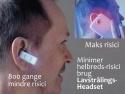 Lavstrålings Headset - Minimal risici testet