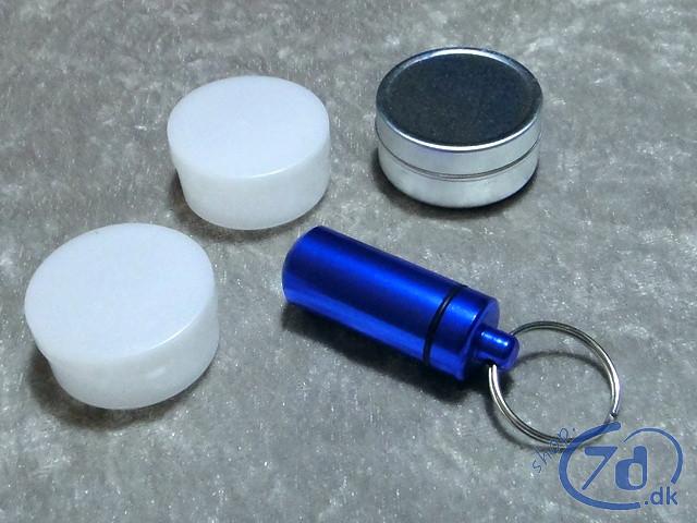 Dåse sortiment til piller, cremer og andet