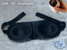 Sovemaske i 3D design - Super behagelig og med plads til øjnene