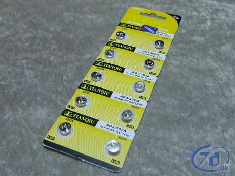 Knapcelle batterier LR41/ AG3 - 10 stk