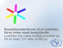 Sikkerhedsbriller - Justerbar model i grundfarver