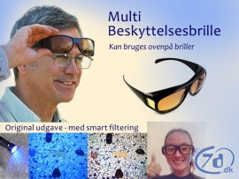 Multi Beskyttelsesbrille - Perfekt ved UV inspektion, ravjagt, modlys...
