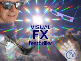 VISUAL FX festbriller - Få psykedelisk syn med smukke effekter og farver