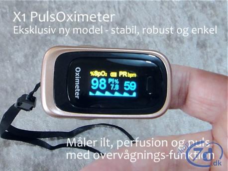 PulsOximeter med ilt, perfusion og puls - Nyeste model