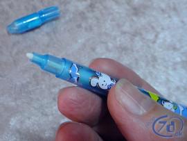 Pen med usynligt blæk og UV lys