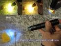 Multilygte med nærinspektion af rav og ædelsten - Hvidt / gult / UV sortlys - Klar til brug