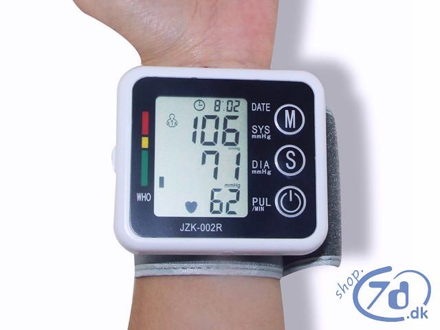 Intelligent blodtryksmåler til håndled - Testet, opsat og klar til brug