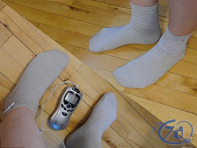 Antistatiske terapi strømper med stik til TENS - EMS - Earthing