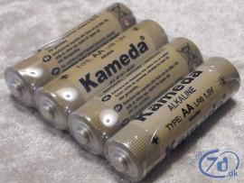 4 AA batterier - Alkaline Kameda kvalitet