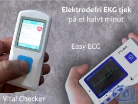 EKG monitor til hurtigt og let tjek af hjertefunktion - Fra 795 kr.