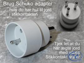 Schuko adapter til stik med...